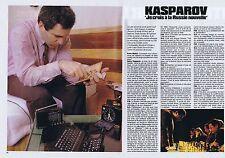 COUPURE DE PRESSE CLIPPING 1992 GARRY KASPAROV (3 pages)