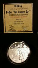D Day WWII individual name of MIA on DDay only1556 minted 1 oz .999 Silver Proof