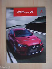 Mitsubishi Lancer Evolution X Prospekt / Brochure / Depliant, Japan, 4.2013