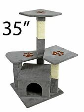 "35"" Cat Tree Tower Condo Furniture Scratch Post Kitty Pet House Play Furniture"
