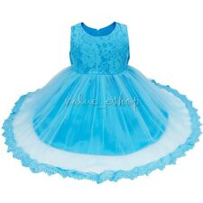 Baby Kids Girls Princess Wedding Pageant Lace Bowknot Tulle Formal Party Dress
