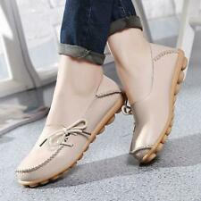 FASHION WOMEN LEATHER SHOES CASUAL SLIP ON BOWKNOT FLAT LOAFERS SINGLE SHOES LOT