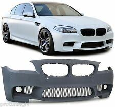 BMW F10 F11 Series M Sport M5 Look FRONT BUMPER ABS Plastic 5 Tech with fogs fog