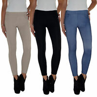 Damen Super Stretch Jeans Hose Röhrenjeans Skinny Röhre Jeggings Treggings E16