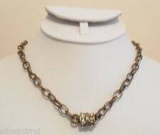 NEW KIRKS FOLLY OVAL CHAIN MAGNETIC INTERCHANGEABLE NECKLACE BRASSTONE