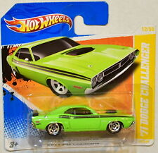 HOT WHEELS 2011 NEW MODELS '71 DODGE CHALLENGER SHORT CARD