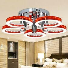 Modern LED Red Acrylic Chandelier with 5 lights Pendant Light Fixture Lamp Chrom