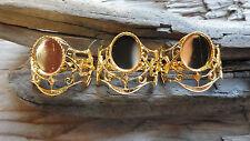 Cruella de Vil Ring Hamilton gold Plate Adjustable 8x10mm mount (Pkg 3) 471