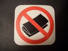 No Junk Mail Sticker - for your mailbox - anti-spam, flyers, ads.  Go Green!