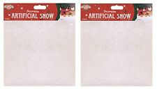 2 Natale Fiocchi di neve grandi sacchi FAKE NEVE 10oz Decorazione Display Santas Trail
