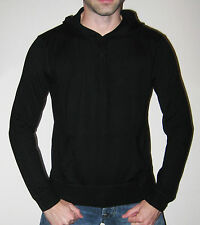 Ralph Lauren Polo 100% Cashmere Black Hooded Sweater Knit - $450 MSRP - SIze SML