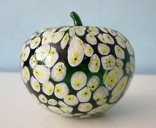 Millefiori Czech Arts Glass Apple, ZDENEK PETR - Iris Sklo.