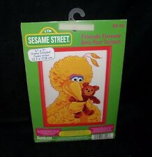 NEW VINTAGE 1997 SESAME STREET 5 X 7 BIG BIRD NEEDLEWORK CROSS STITCH ART CRAFT
