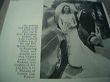ephemera sussex 1966 wedding toby caulfield collyer arundell virginia wickens
