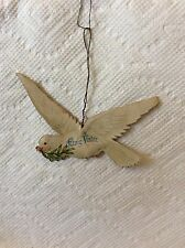 ANTIQUE GERMAN FLYING DOVE PAPER CHRISTMAS ORNAMENT