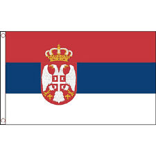 Serbia Crest Flag 5Ft X 3Ft Serbian European Banner With 2 Eyelets New