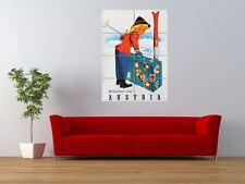 TRAVEL AUSTRIA ALPINE WINTER SPORT SKIING  GIANT ART PRINT PANEL POSTER NOR0423