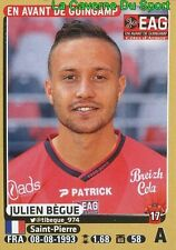 140 JULIEN BEGUE # EAG GUINGAMP STICKER PANINI FOOT 2016