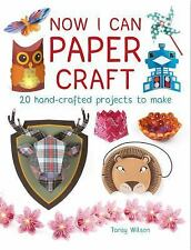 Now I Can Paper Craft : 20 Hand-Crafted Projects to Make by Tansy Wilson...