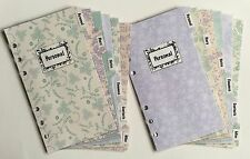 Filofax Personal Planner - Mint & Lavender Labelled Dividers - Fully Laminated