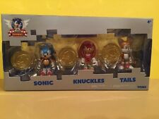 SONIC THE HEDGEHOG 25TH ANNIVERSARY 3 FIGURE SET WITH COINS TOMY