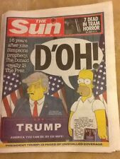 Donald Trump The Simpsons The Sun British Newspaper Election Day Results