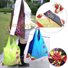 5pcs Strawberry Foldable Shopping Tote Reusable Eco Friendly Grocery Bag Carrier