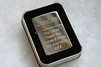 Engraved Lighter Mens/Male/18th/21st/30th/40th Birthday/Best Man/Fathers Day