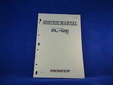 Pioneer PL-12E Turntable Service Manual