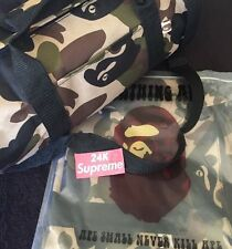 Bape 1st Camo Small Duffle Gym Bag BNIB RARE 100% AUTHENTIC Supreme Bathing Ape