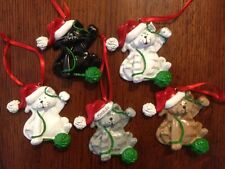 Personalized Cat with Yarn Christmas Ornament