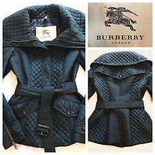 Burberry Jacket Coat Quilted Puffer Jacket Ink Blue Size UK 6 | BURBERRY LONDON