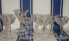 Set of 8 Antique Signed Hawkes Crystal Liquor Cocktail Stems  Colonial