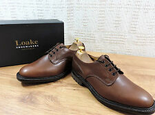 New Loake Men's Epsom Brown Waxy Leather Shoes - UK 8 F  US 9  EU 42 F