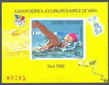 1988 Seoul Olympics,Korea,Swimming,Schwimmen,Water,Satellite,Romania,Bl.243,MNH