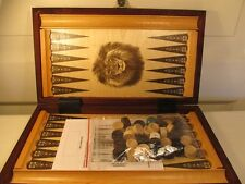 Backgammon 32 x 29 cm wood, brown