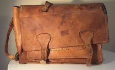 VINTAGE LEATHER SCHOOL BAG SATCHEL BRIEF CASE  IN NEED OF REPAIR