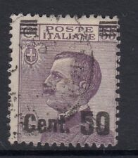 ITALY :1923 Cent 50 on 55c dull purple  SG 144 used