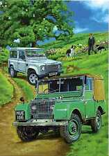 Country Cards Land Rover Series I & 90 110 Defender Happy Birthday card