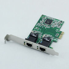 PCI-E Express 10/100/1000M Dual 2 Port RJ45 Gigabit Ethernet LAN Net Card BLS