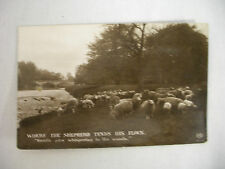 "VINTAGE RPPC SHEEP BY A RIVER ""WHERE THE SHEPERD TENDS HIS FLOCK"" 1913"
