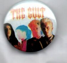 THE CULT - RARE BUTTON BADGE - BRITISH HARD ROCK BAND- GOTH -SHE SELLS SANCTUARY