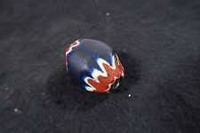 Gran antigüedad chevron Cristal Perla 33mm 7l Antique Star bead Venetian trade Bead