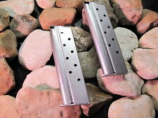 2 Pack Colt 10mm 1911 DELTA ELITE Magazines Mag 8 Round Dull Stainless