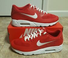 NIKE AIR MAX 90 ULTRA ESSENTIAL MEN'S SZ 11.5 NEW 819474-601 RED/WHITE SP PRM QS