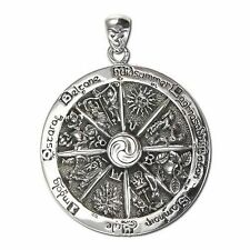 Wheel of the Year Silver Pendant w/ chain Pagan Jewelry by Dryad #TP2717