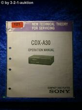 Sony Operation Manual CDX A30 CD Wechsler (#0121)