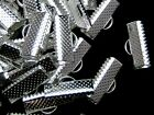 100 x Silver Plated Ribbon Ends / Clasps 16mm x 8mm Findings Craft T10