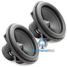 "(2) SUNDOWN AUDIO X-18 D4 SUBS PRO 18"" DUAL 4-OHM 2500W RMS SUBWOOFERS NEW"