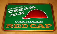 VTG Canadian Red Cap Imported Cream Ale Carling Breweries Bar Sign New NOS 1970s